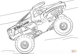 Imagination Monster Jam Coloring Pages Printables El Toro Loco Truck ...