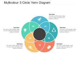 Venn Diagram With 5 Circles Multicolour 5 Circle Venn Diagram Template Presentation