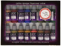 Vallejo Game Color Extra Opaque Painting Set Set Of 16 Amazon