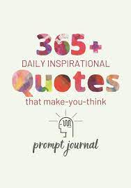 365+ Daily Inspirational Quotes That Make You Think: Prompt Journal:  Amazon.co.uk: Gast, Alan, Gast, Susan: 9781707613090: Books