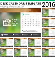 Desk Calendar Template 2016 Vector Material 06 Free Download