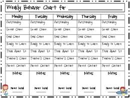 Outer Space Themed Behavior Chart Clip Up Clip Down