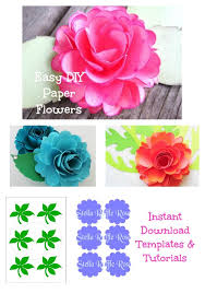 Giant Paper Flower Svg Paper Flower Rose Template Svg Cut Files Pdf Template Paper
