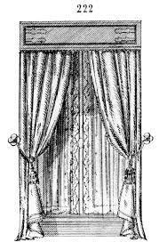 vintage window drawing. vintage clip art \u2013 gorgeous french draperies windows window drawing