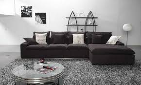 Modern Black Fabric Modular Sofa With Chaise Lounge Of Captivating With L  Shaped Fabric Sofas (