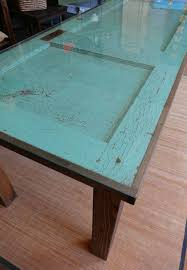 farmhouse dining room table from old door