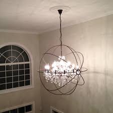 iron glass foyer chandelier