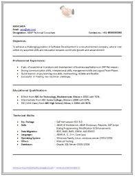B Tech Resume Format Page 1 Career Pinterest Word Doc Cv