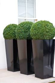 ... Planters, Large Black Garden Planters Inexpensive Large Planter Ideas  Three Black Large Outdoor Oval Shape ...