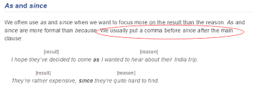 When To Use Comma Grammar Is It Necessary To Put A Comma Before Since Clause