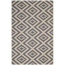 jagged in gray and beige 8 ft x 10 ft geometric diamond trellis indoor