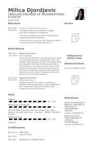 Trainee Resume Samples - Visualcv Resume Samples Database