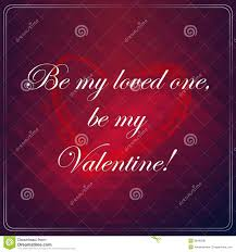 Be My Loved One Be My Valentine Love Quote Poster Stock