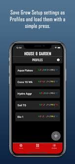 house garden nutrient app on the app