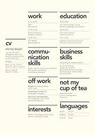 resume folio pieter baert cv folio pinterest creative cups and teas