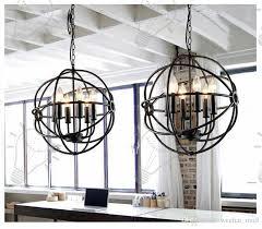 rh lighting restoration hardware vintage pendant lamp foucault s iron orb chandelier rustic iron rh loft light globe style 65cm 80cm 103cm large pendant