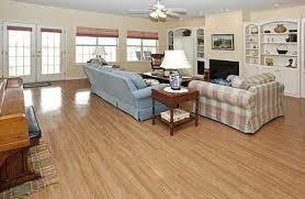 the vinyl floor