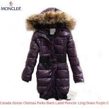 Canada Goose Chateau Parka Black Label Moncler Long Down Purple Coat Women