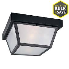 portfolio 1037in w black outdoor flushmount light flush mount porch light o23