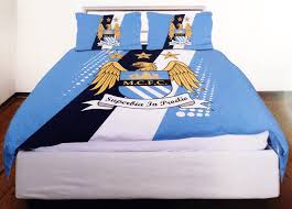official manchester city football club single duvet bedding sets choice of designs
