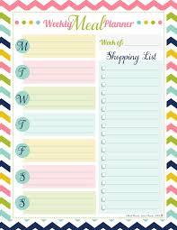 Weekly Meal Planner Free Printable Homemaking Tips
