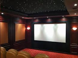 use of dedicated lighting and fiberoptic ceiling lights in the home theater ceiling ambient lighting