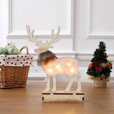 new decoration luminous wooden reindeer ornaments hotel ping mall window decor led lighting elk from decorations