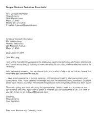 Cover Letter For Technician Sample Cover Letter For Pharmacy