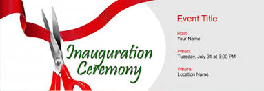 Opening Invitation Card Sample Free Inauguration Ceremony Invitation With Indias 1 Online Tool