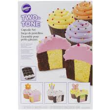 Amazoncom Wilton 2105 7783 Two Tone Cupcake Baking Set Bakeware