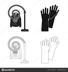 Vector Illustration Of Cleaning And Service Sign Collection Of