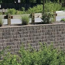 a failing retaining wall around