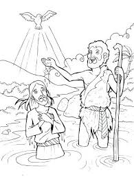 Jesus Baptism Coloring Page Best Baptism Of Images On Baptism Jesus