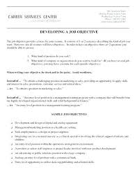 Resume Job Objective How To Make Objective In Resume Resume Board Of