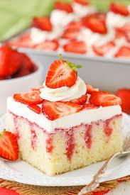Strawberry Poke Cake Easy Strawberry Vanilla Cake Recipe
