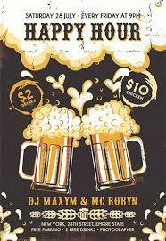 Happy Hour Flyer Poster For Happy Hour Beers