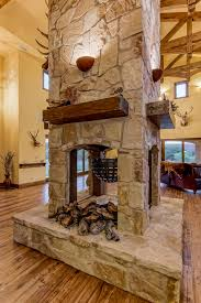 Open Stone Fireplace 3 Sided Custom Fireplaces Google Search Game Room Ideas