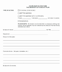 Disciplinary Forms For Employees Free Disciplinary Action Form Template Lovely Employee Disciplinary