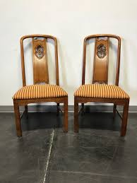 asian influenced furniture. SOLD OUT - THOMASVILLE Mystique Asian Influenced Dining Side Chairs Pair Furniture W