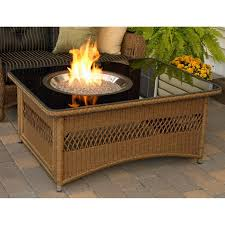 picture of fire pit coffee table top outdoor greatroom company naples 48 inch propane with black glass f