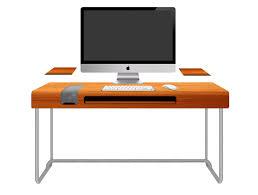 imac furniture. Furniture. Rectangle Orange Imac Computer Desk With Grey Alumunium Bases. Adorable Look Of Furniture R