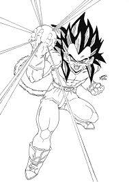 Coloriage Dragon Ball Z Super Vegetol