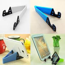 10pieces lot multicolor cell phone holders pc material foldable mobile phone holders for desk