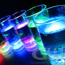 multi color led glow drinking glasses