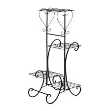 Wrought Iron Art Display Stands Custom Wrought Iron 32 Layers Flower Pot Plant Stand Holder Rack Display