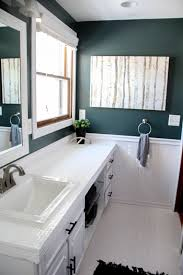 green painted bathroom walls