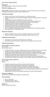dance teacher resume sample resume for montessori teacher - Montessori  Teacher Resume
