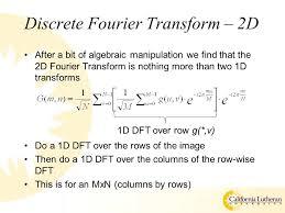 3 discrete fourier transform 2d