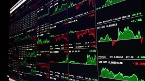 Ethereum Candlestick Chart Live Large Chart Of Live Crypto Stock Footage Video 100 Royalty Free 34198090 Shutterstock