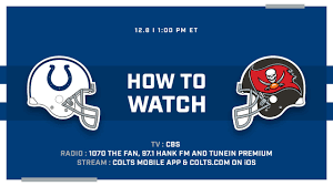 How To Watch Indianapolis Colts At Tampa Bay Buccaneers On